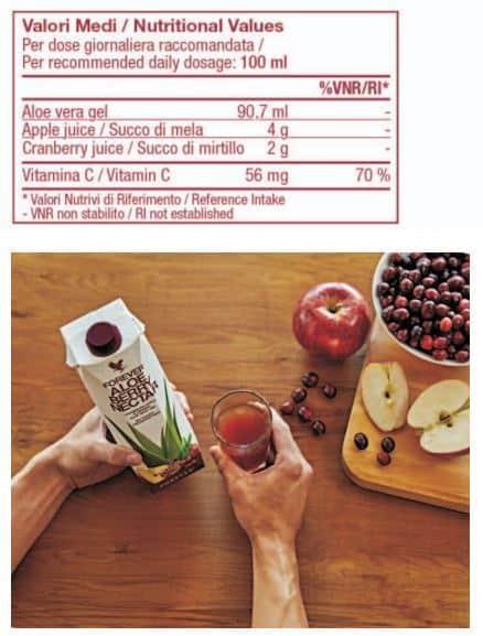 Valori medi Aloe Berry Nectar
